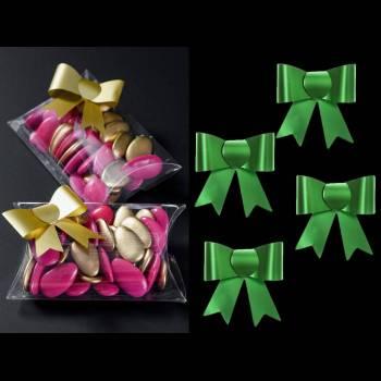 4 Kleine grüne selbstklebende Knoten