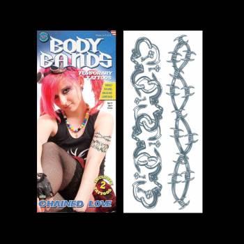 2 Tattoo Armumarm mit Handschellen und Stacheldraht