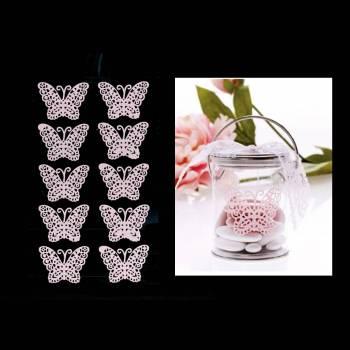 10 Schmetterlinge Rosa Aufkleber