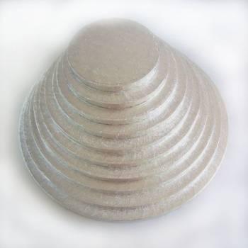 10mm Sohle mit rundem Kuchen silbern