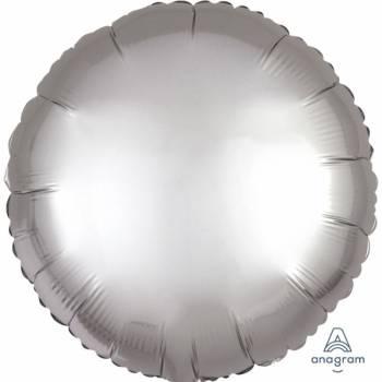 Helium-Ballon satin luxe platinium rund