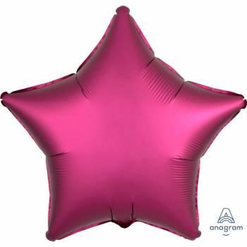 Helium Ballon Satin Luxus Granatapfel Stern