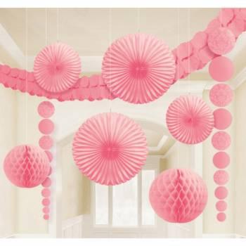 Set Dekorationen für den barocken rosa Raum