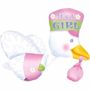 Riesen-Ballon Storch Mädchen