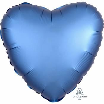 Helium-Ballon Satin Luxus Blau Herz