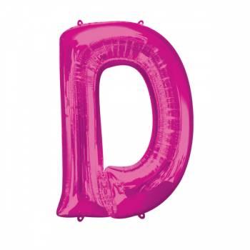 Mega Helium Ballon Buchstabe D fuschia