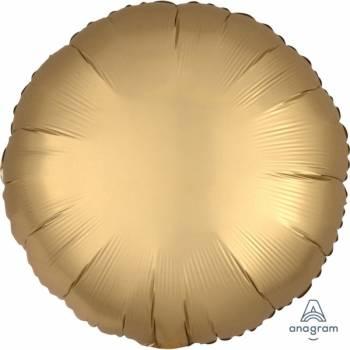 Helium-Ballon Satin Luxus gold runde