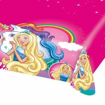 Kunststoff-Tischtuch Barbie Einhorn