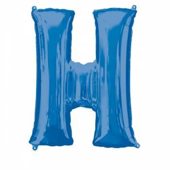Mega Helium Ballon Buchstabe H blau