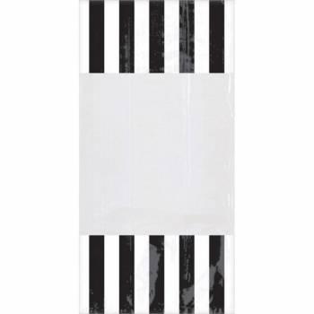 10 schwarze gestreifte Tüten