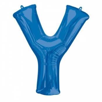 Mega Helium Ballon Buchstabe Y Blau