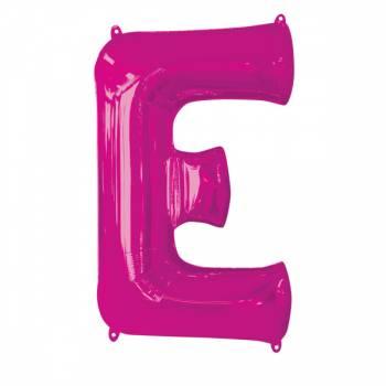 Mega Helium Ballon Buchstabe E fuschia