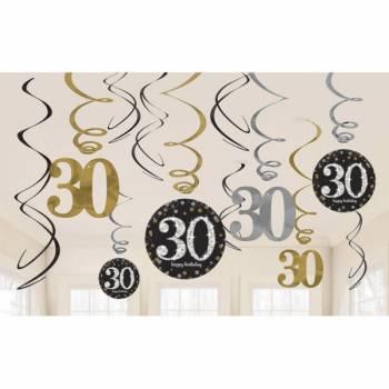 12 Aufhängung Silber Gold 30 Jahre