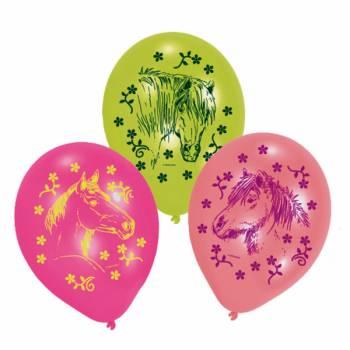 6 Pferd ballons