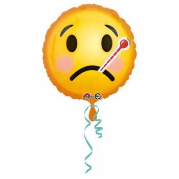 Helikopter-Emoticon-Ballon krank