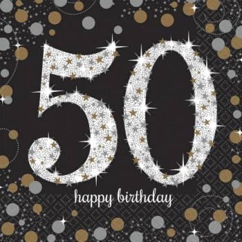 16 Sprudelnde Gold Silber 50 Jahre
