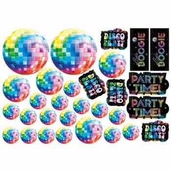 30 Disco Wanddekorationen