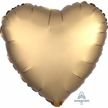 Ballon Helium satin luxe gold herz