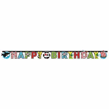 Girlande Happy Birthday Piraten Wimpeln
