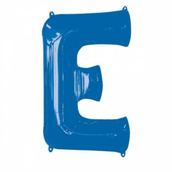 Mega Helium Ballon Buchstabe E blau