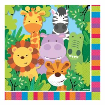 20 servietten Dschungeltierel