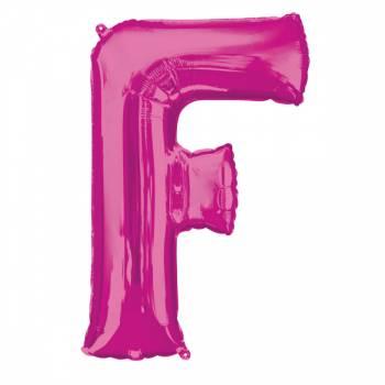 Mega Helium Ballon Buchstabe F fuschia