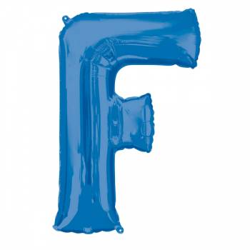 Mega Helium Ballon Buchstabe F blau