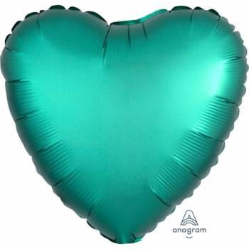 Helium Ballon Satin Luxus Smaragd Herz