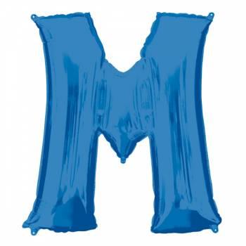 Mega Helium Ballon Buchstabe M blau