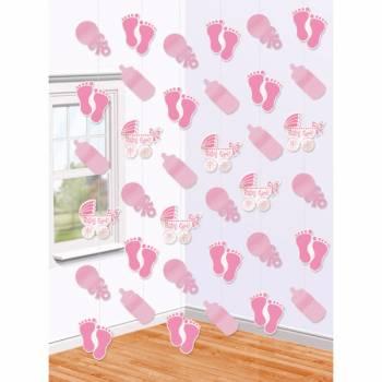 6 Girls baby shower Baby Rosa