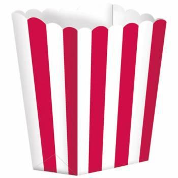 5 Pop-Boxen rote Streifen