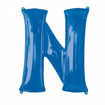Mega Helium Ballon Buchstabe N blau