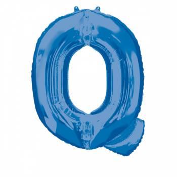Mega Helium Ballon Buchstabe Q blau