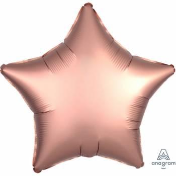 Ballon Helium Satin Luxus Gold Stern