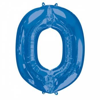 Mega Helium Ballon Buchstabe O blau