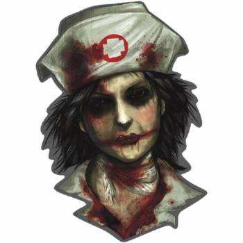 Dekor aus Papp Krankenschwester Zombie