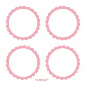 20 rosa Etiketten