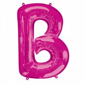 Mega Helium Ballon Buchstabe B fuschia