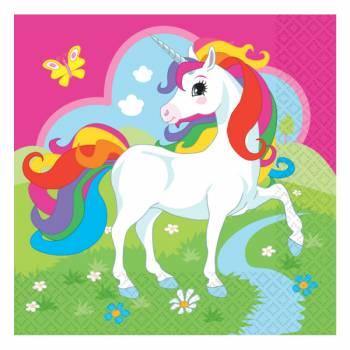 20 Servietten Einhorn rainbow