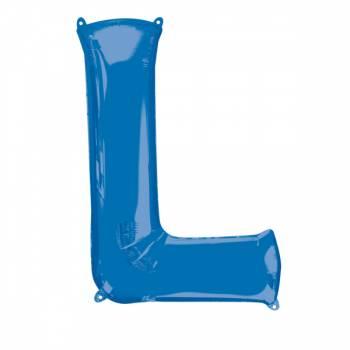 Mega Helium Ballon Buchstabe L blau