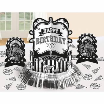 Tisch-Set Happy Birthday Schiefer