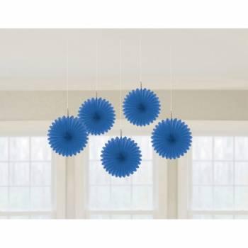 5 Suspensionen Fächer blau