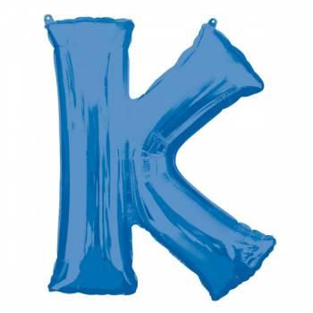 Mega Helium Ballon K Buchstaben K blau