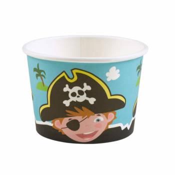8 Piraten-Eisbecher