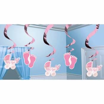 5 Baby-Show-Aufhängung Baby Rosa