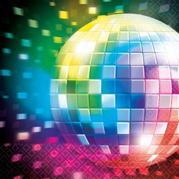 16 Disco Servietten 70 es