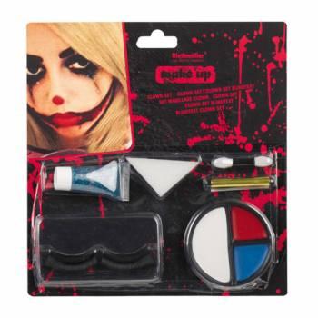 Gruselige Clown Make-up-Set