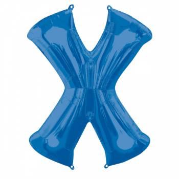 Mega Helium Ballon Buchstabe X blau