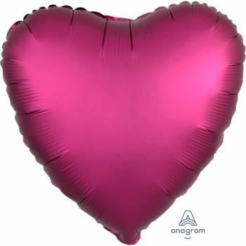 Helium Ballon Satin Luxus Granatapfel Herz