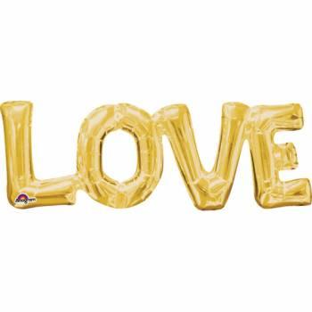 Love Gold Aluminium Ballon
